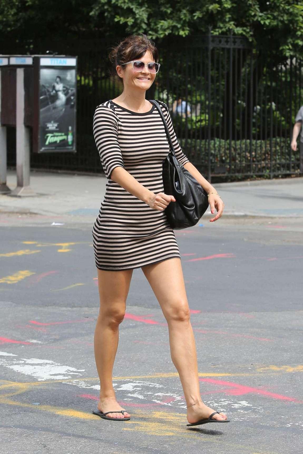 Helena Christensen Out In The West Village Gotceleb