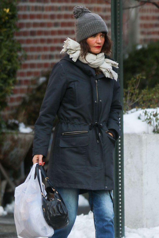 Helena Christensen out shopping in West Village
