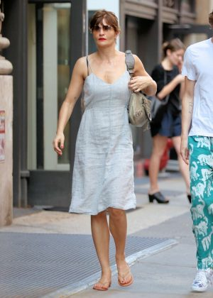 Helena Christensen Shopping on Mercer Street in New York City