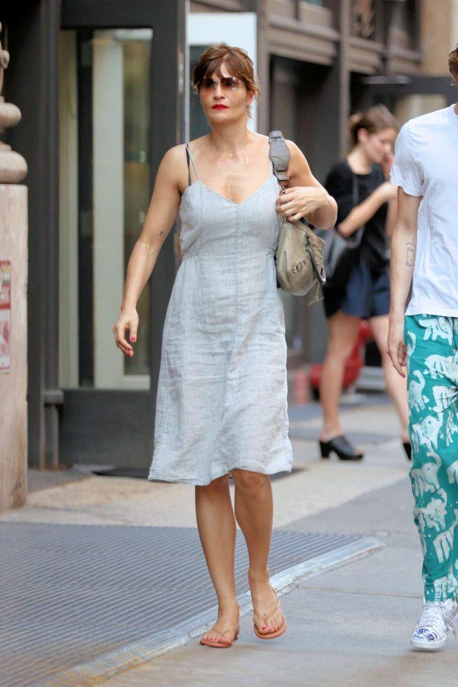 Helena Christensen Shopping on Mercer Street in New York City