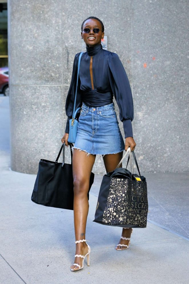 Herieth Paul - Victoria's Secret Fashion Show Fittings in New York