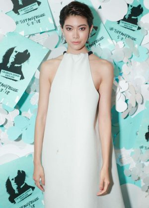 Hikari Mori - Tiffany Paper Flowers Event in New York City