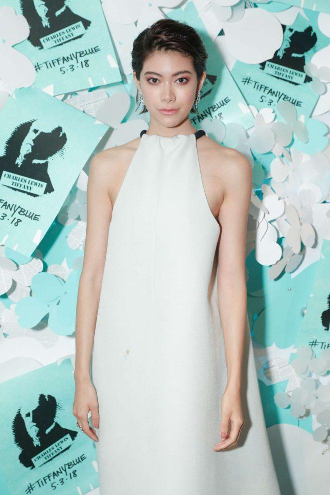 Hikari Mori - Tiffany Paper Flowers Event in New York City