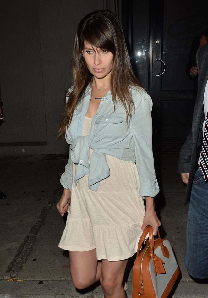 Hilaria Baldwin at Craig's in West Hollywood