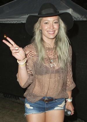 Hilary Duff - 2015 Coachella Music Festival Day 3 in Indio