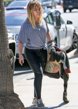 Hilary Duff after a workout in Beverly Hills