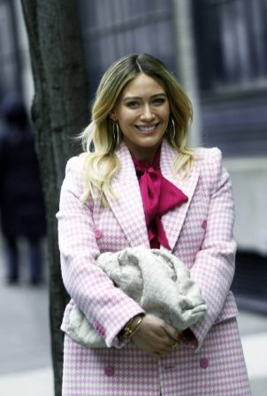 Hilary Duff - All smiles on the set of Younger in New York
