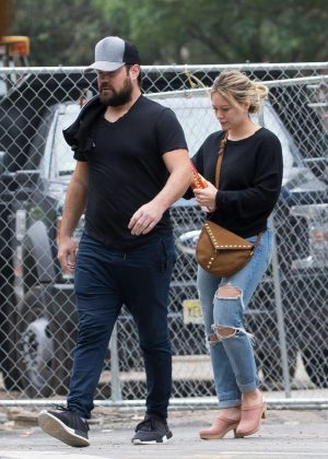 Hilary Duff and her ex-husband Mike Comrie out in New York