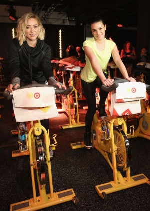 Hilary Duff and Lea Michele - SoulCycle x Target Launch Event in NY
