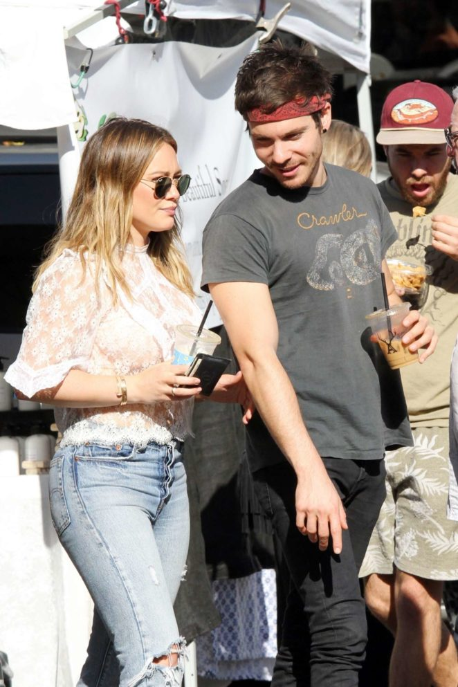 Hilary Duff and Matthew Koma at Farmers Market in Los Angeles