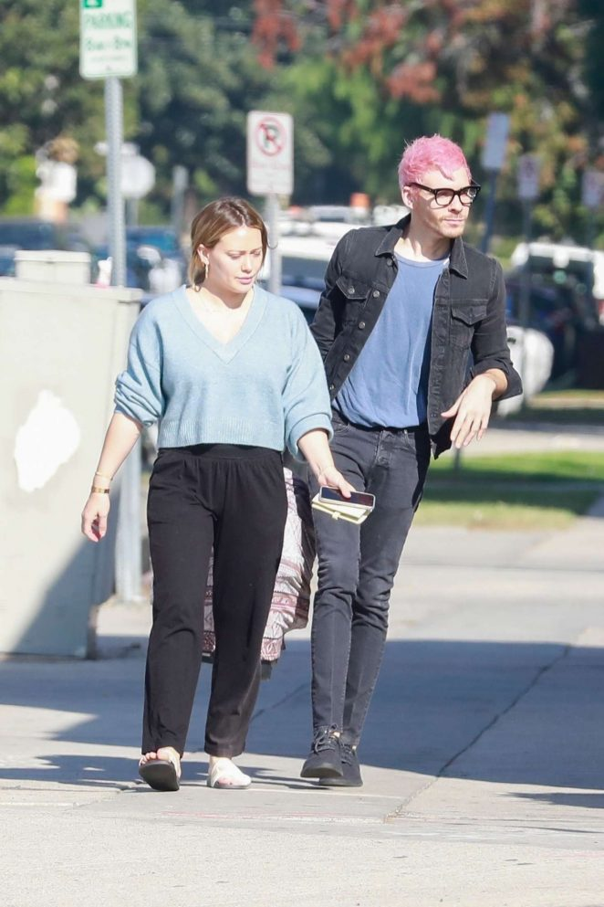 Hilary Duff and Matthew Koma – Out for a coffee in LA