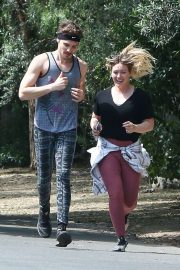 Hilary Duff and Matthew Koma - Out for a jog in Los Angeles