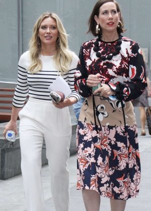 Hilary Duff and Miriam Shor out in New York