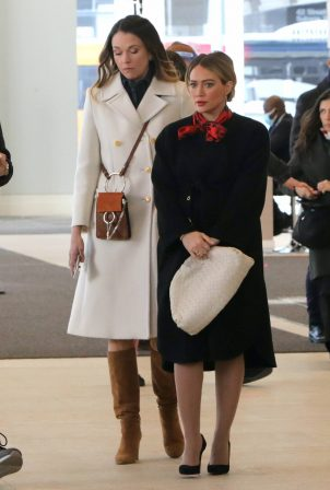 Hilary Duff and Sutton Foster - Seen on 'Younger' set in Manhattan