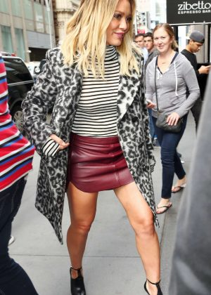 Hilary Duff Arrives at the SiriusXM Studios in New York