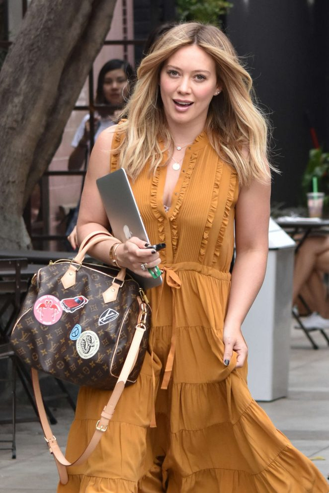 Hilary Duff – Arrives For an Appointment at 901 Hair Salon in LA