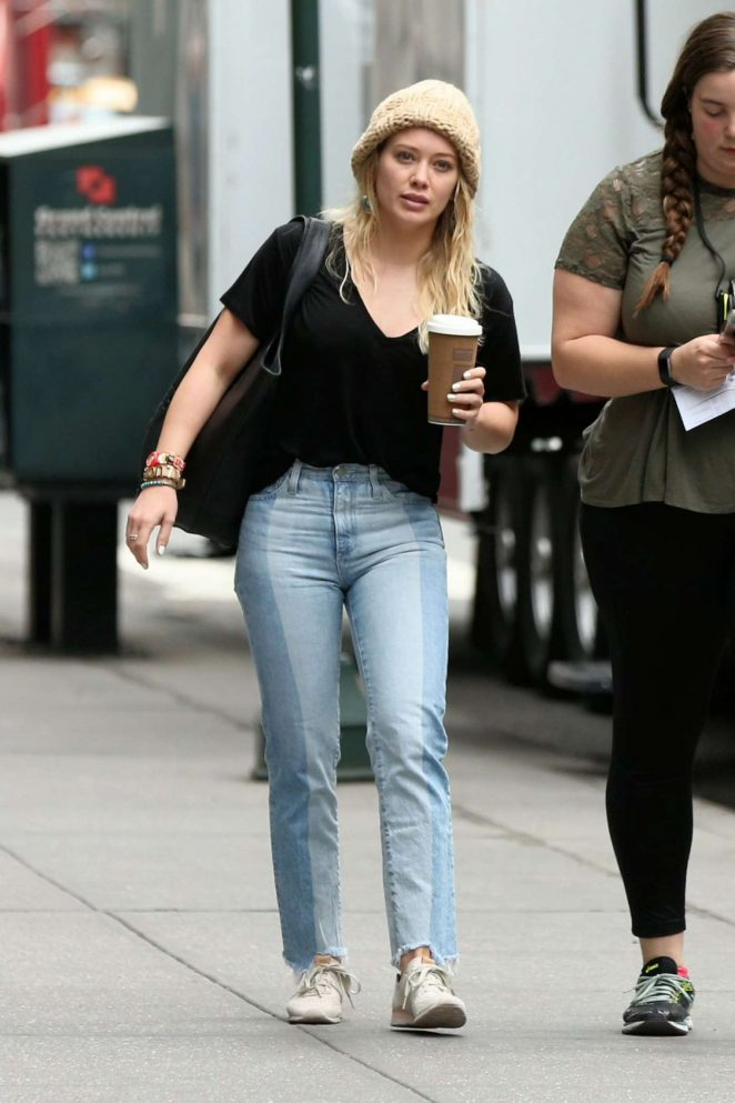 Hilary Duff - Arrives on 'Younger' set in New York