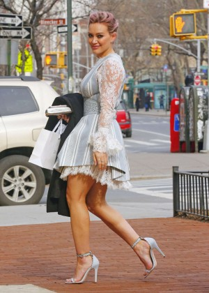 Hilary Duff - Arriving at the Zimmermann Fall 2016 New York Fashion Week