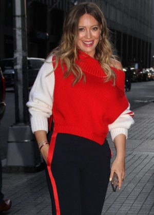 Hilary Duff - Arriving to the Season 5 premiere of 'Younger' in NY