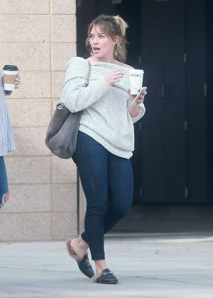 Hilary Duff at a Fire Department in Studio City