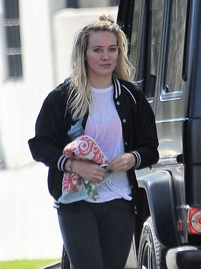 Hilary Duff at a friends house in Studio City