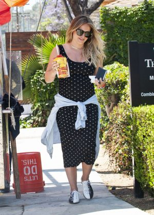 Hilary Duff at a fruit stand in Los Angeles