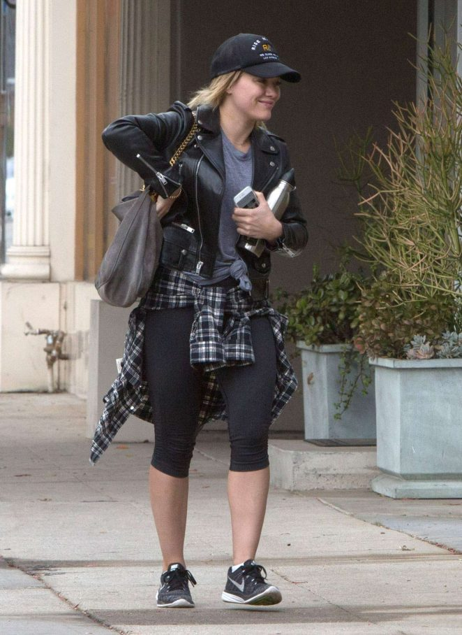 Hilary Duff at a gym in Studio City