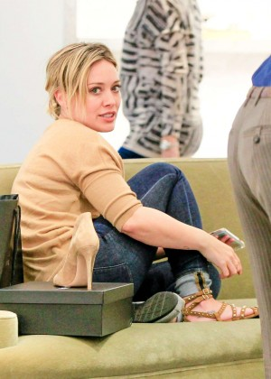 Hilary Duff at Barney's New York in Beverly Hills