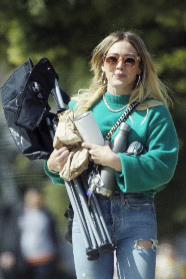 Hilary Duff at Football game in Studio City