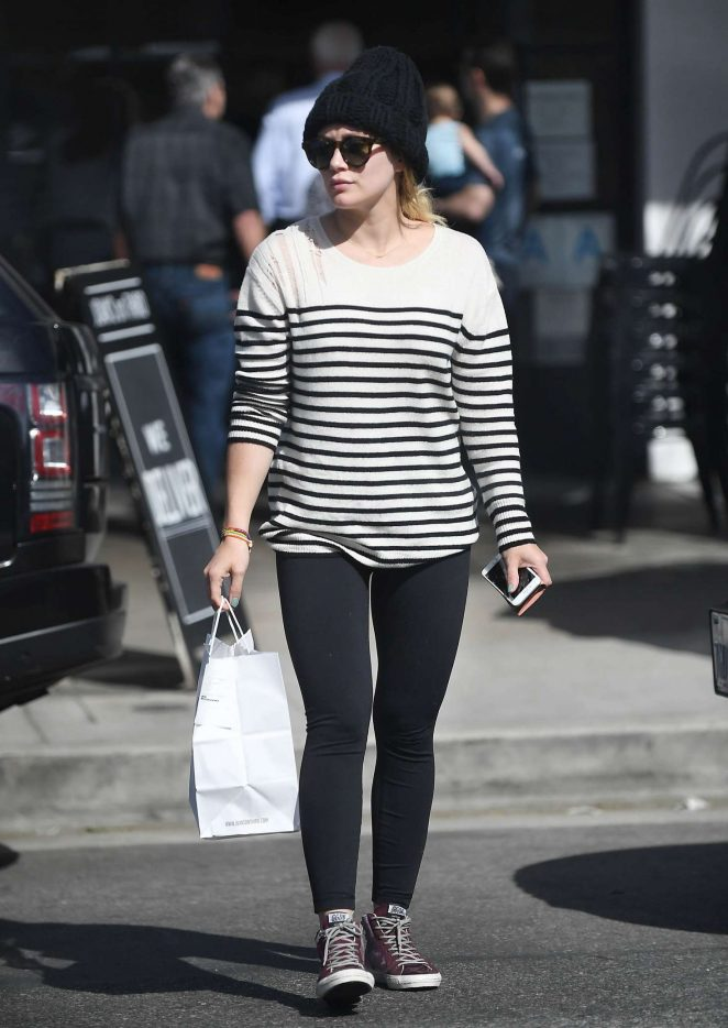 Hilary Duff at Joan's on Third in Los Angeles