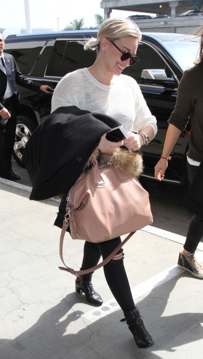 Hilary Duff at LAX Airport in LA