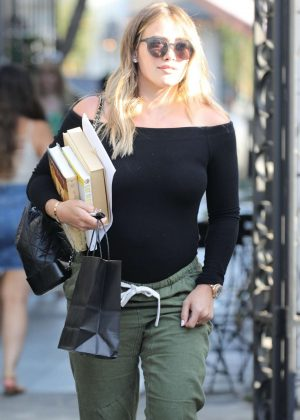 Hilary Duff at Nine Zero One Salon in West Hollywood