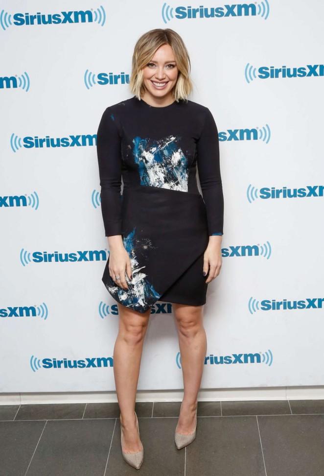Hilary Duff at the SiriusXM Studios in NY