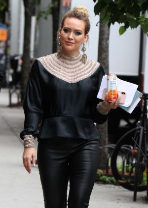 Hilary Duff at the 'Younger' set in New York City