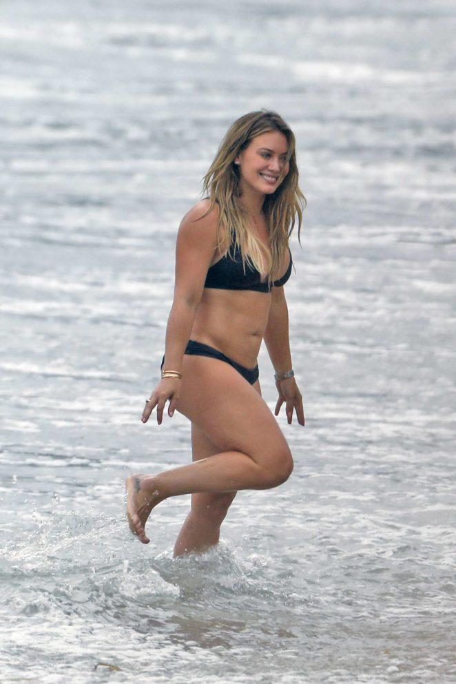 Hilary Duff: Bikini at a beach in Malibu 2017-05