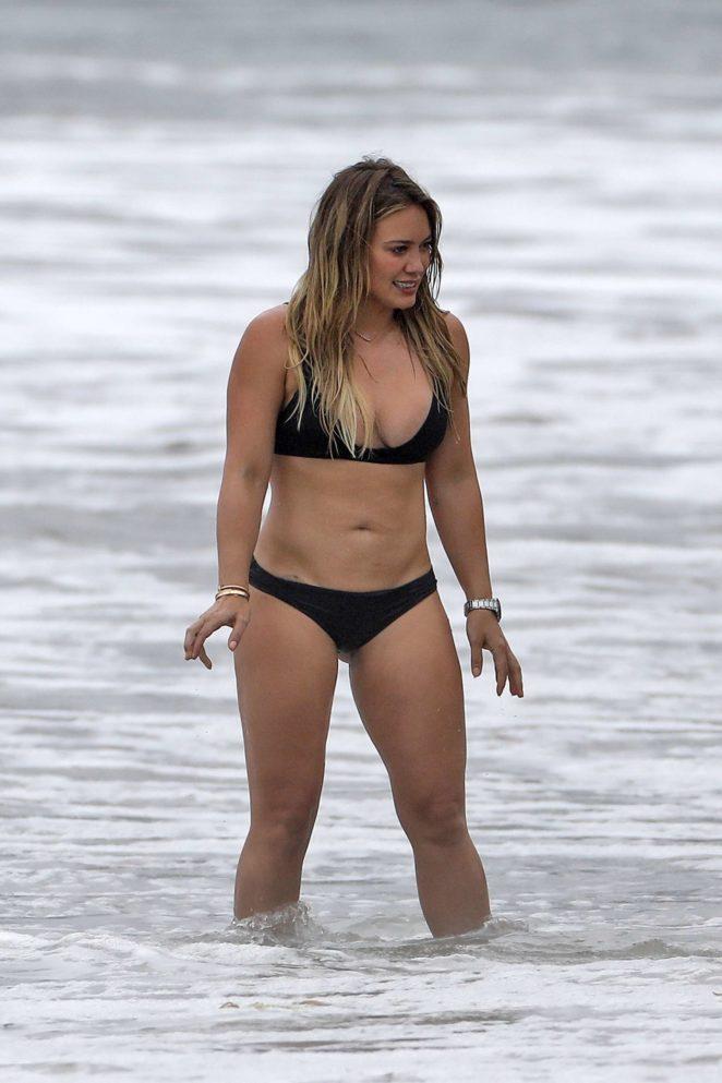Hilary Duff: Bikini at a beach in Malibu 2017-09