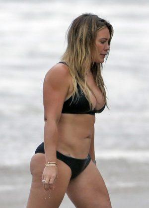 Hilary Duff - Bikini at a beach in Malibu 2017