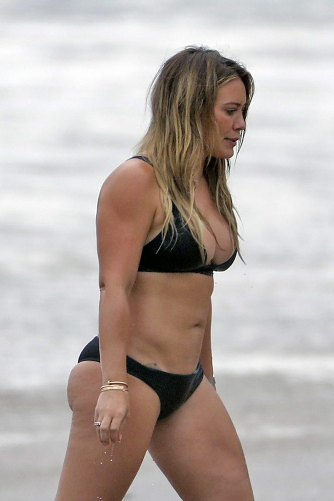 Hilary Duff - Bikini at a beach in Malibu 2017