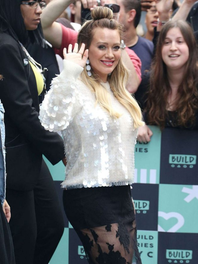 Hilary Duff – Build Series In New York