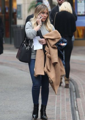Hilary Duff - Christmas Shopping at The Grove in LA