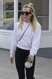 Hilary Duff - Exiting a nail salon in Studio City