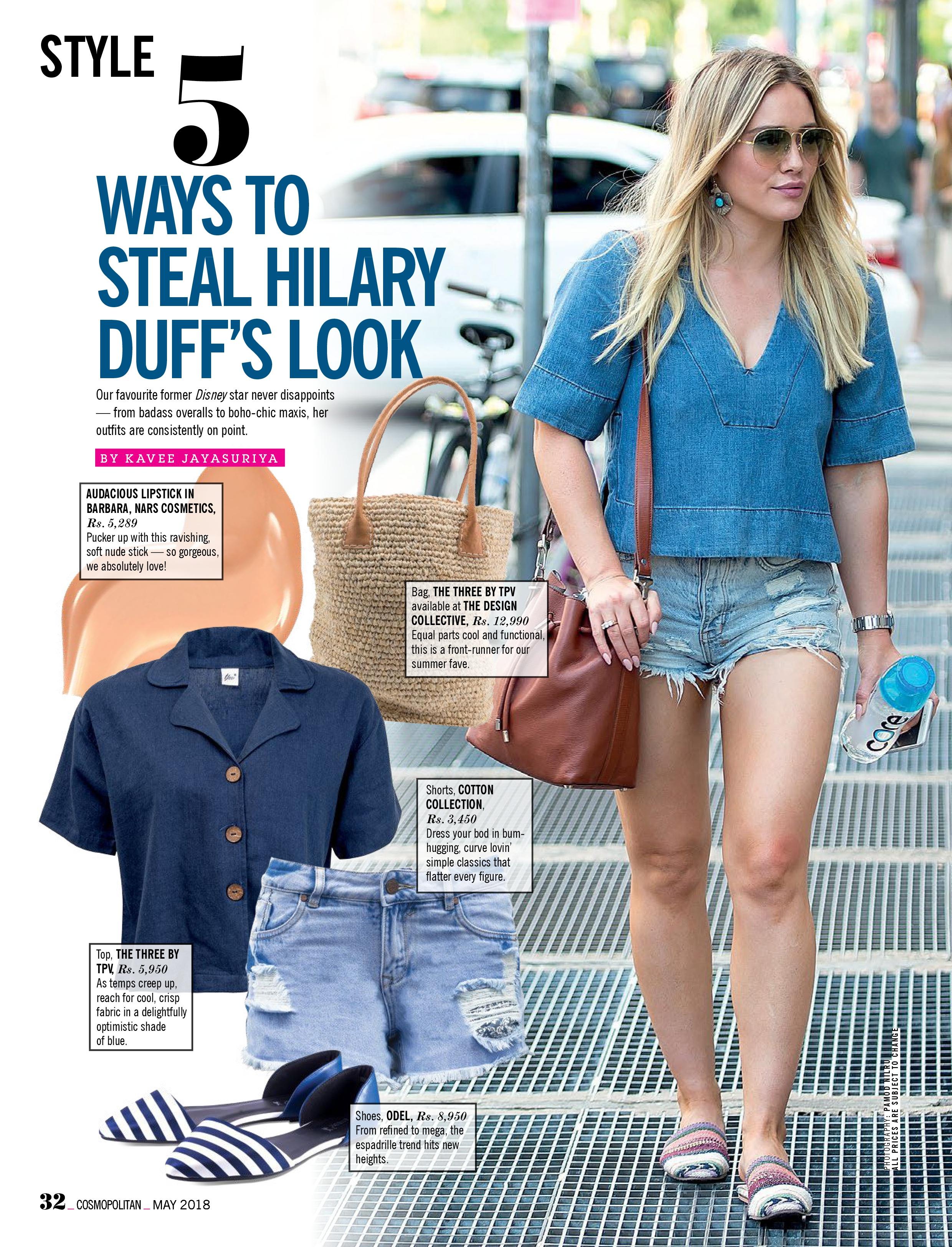Hilary Duff for Cosmopolitan Sri Lanka (May 2018)