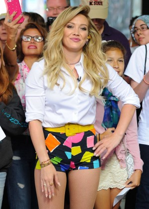 Hilary Duff in Tiny Shorts on 'Good Morning America' in NYC