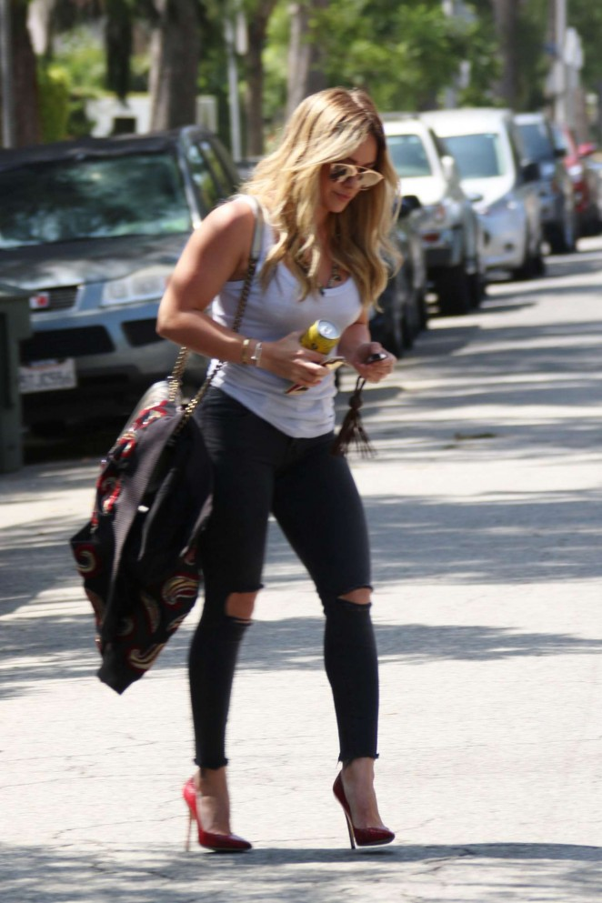 Hilary Duff - Heading to recording studio in West Hollywood