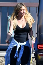 Hilary Duff - Heads to her work out in Los Angeles