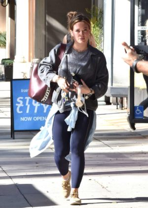 Hilary Duff - Hits the gym in Studio City