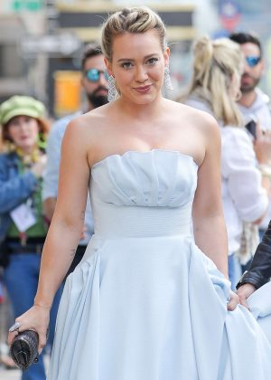Hilary Duff in a 'Cinderella' dress at the 'Younger' set in New York