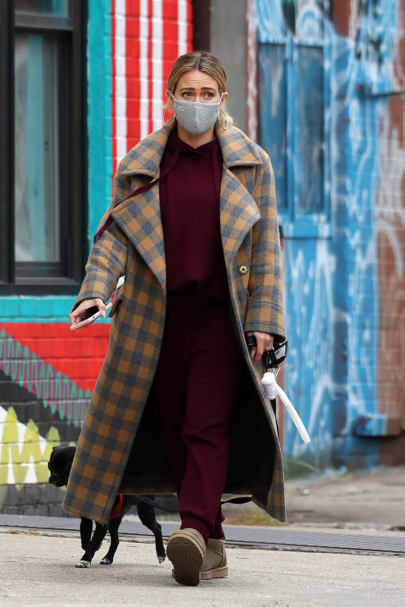 Hilary Duff - In a winter coat out in NYC