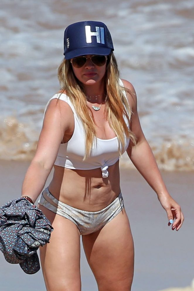 Hilary Duff in Bikini at the beach in Maui