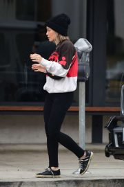 Hilary Duff in Black Pants - Out in Los Angeles